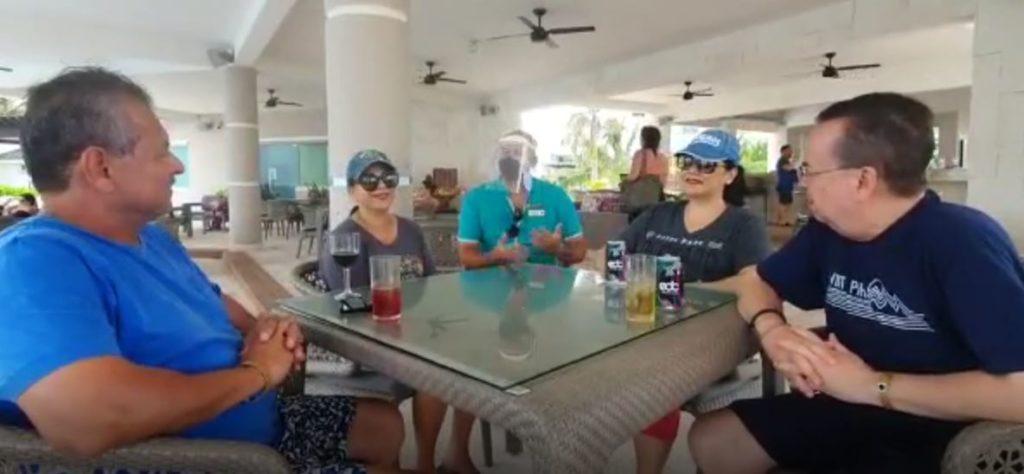 Fam Salazar y Perez en Puerto Morelos