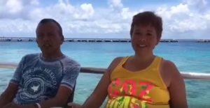 Alma Mejia y Jose Zuniga disfrutan su estancia en Cozumel